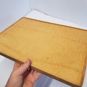 Accents - Nice vintage hand made bamboo 2 handle Tray